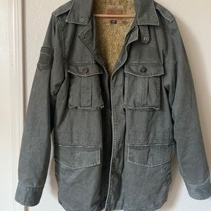 Guess Military Style Army Green Jacket